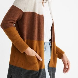 NWT Madewell Kent Colorblock Cardigan Sold Out